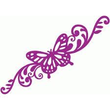 silhouette design store view design 63876 butterfly swirls