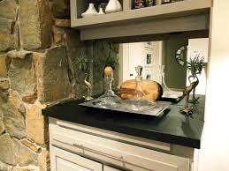 kitchen design ideas plain style of antique mirror backsplash
