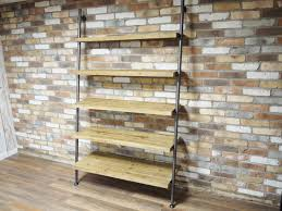 white 60 h ladder style bar unit shelving com rustic wood retail