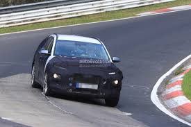 2018 hyundai kona baby suv spied on nurburgring hides dual