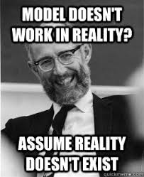 Economics Memes - real world economics review blog posts are by authors of papers