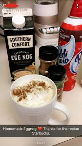 Eggnog And Southern Comfort Thinking Quickly She Constructs Homemade Eggnog Using Only