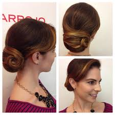bridal hairstyle pics sleek and smooth updo classic bun low bun finger waves chignon