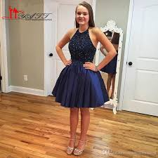 dress cheap navy blue homecoming dresses 2017 halter cheap bead sweet 16