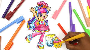 shopkin coloring pages shoppies coloring rainbow kate