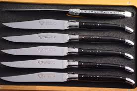 water buffalo horn handle laguiole en aubrac 6 piece steak knife