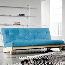 futon azur fresh naturel futon bleu futon azur