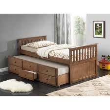 Black Twin Captains Bed Bedroom Black Wooden Roomsaver Bed With Nightstand For Bedroom