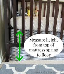 How To Make A Crib Mattress Restoration Diy No Sew Adjustable Crib Skirt No More