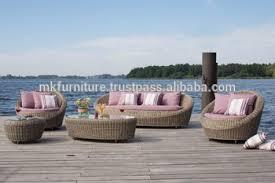 Patio Furniture Rattan Modern Style Design Garden Sofa Set Pvc Rattan Garden Sofa