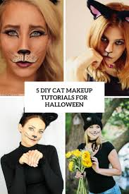 5 diy cat makeup tutorials for halloween styleoholic
