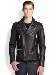 motorcycle style leather jacket kent u0026 curwen formal leather biker jacket in black for men lyst