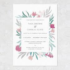 jungle flower wedding invitations by studio sophie