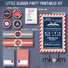 baby shower sports invitations little slugger baseball baby shower party printables kit