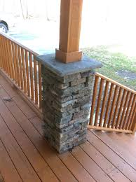 Front Porch Column Covers by Articles With Stone Front Porch Posts Tag Mesmerizing Stone Front
