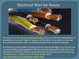 best electrical wires for home ppt download