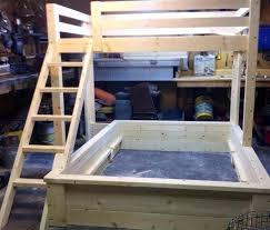 Best Loft Beds Images On Pinterest Queen Bunk Beds  Beds - Queen over queen bunk bed