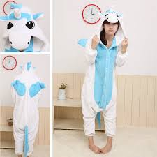 cheap blue unicorn kigurumi onesies animal costume pajamas pyjama