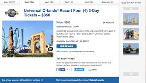 daily getaways universal orlando packages deals we like