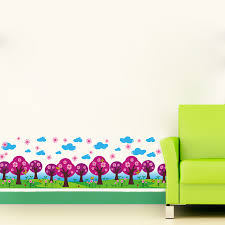 Wallpaper Borders For Girls Bedroom Wall Borders For Kids Rooms Interiors Design