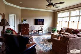 Livingroom Cafe by Den Sherwin Williams Dormer Brown Distressed Wood Floors Cafe