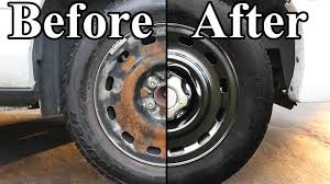lexus steel wheels how to paint the wheels on your car youtube