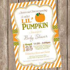 template pumpkin baby shower invitations