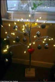 Ugly Christmas Decorations - awful christmas trees are pine ful to look at daily mail online