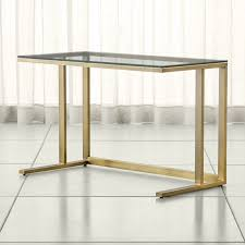 Desk Covers Glass Stylish Sophisticated U0026 Modern Desks Crate And Barrel