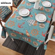 custom dining table covers ocean winds creative linen tablecloth mediterranean coffee table