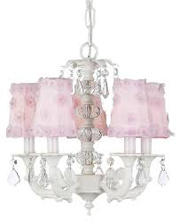 White Chandelier With Shades Chandelier With Glass Ball Tower Optional Pink Petal Shades