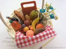 Picnic Basket Set Buy Dollhouse Picnic Basket With Set Of Products On Livemaster