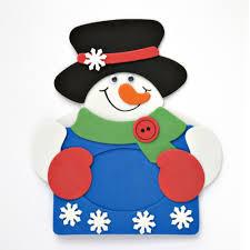 snowman picture frame foam snowman kit christmas picture frame
