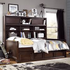 Trundle Bed With Bookcase Headboard Amazing Daybed With Bookcase Headboard 86 With Additional Diy