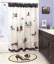 Zoological Shower Curtain Fashionista High Heel Purse Bath Collection Shower Curtain Soap
