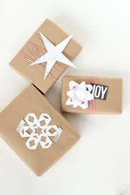 easy kraft paper gift wrapping ideas gift wrap ideas