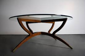 Base For Glass Coffee Table Free Shipping In Usa Mid Century Modern Teak Spider Base Glass Top