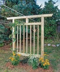 free trellis plans free plans to build this diy trellis clothesline share gardening
