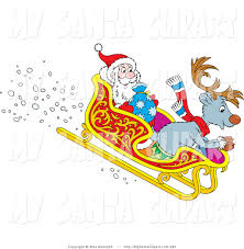father christmas and reindeer clip art 35
