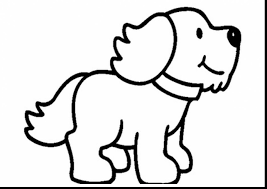 terrific dog clip art coloring pages with puppy coloring pages