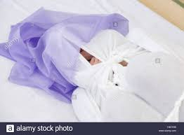 japanese wrapping method tokyo japan 4th feb 2017 a woman is wrapped in cloth during an