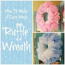 how to make mesh wreaths how to make a deco mesh ruffle wreath miss kopy