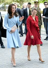 kate middleton meets princess stephanie in luxembourg while