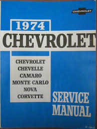 1974 chevrolet chassis service manual covering chevrolet