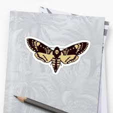 butterfly sphinx skull butterfly skull stickers by huggymauve