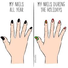 Nails Meme - dopl3r com memes my nails all year my nails during the holidays