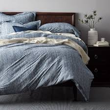 Jersey Cotton Duvet Set Space Dyed Navy Jersey Duvet Cover Sham U2013 Goodglance