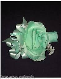 mint green corsage new artificial mint green corsage mint s corsage