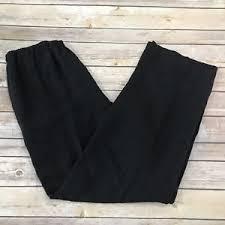 eileen fischer eileen fischer small black lightweight linen blend pull on