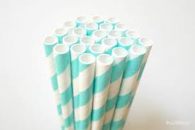 paper straws light aqua blue paper straws striped straw 25 usa
